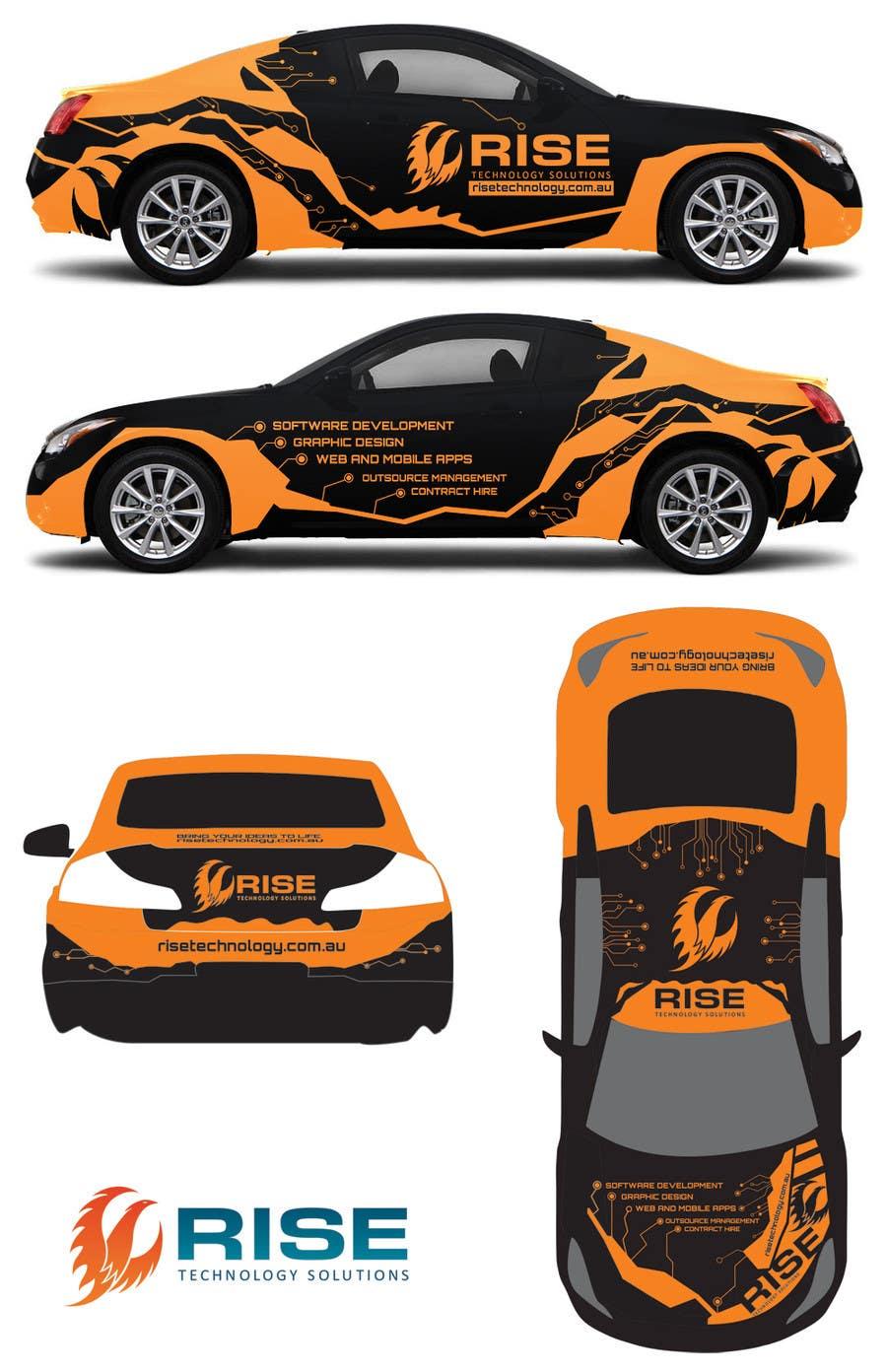 Konkurrenceindlæg #                                        38                                      for                                         Car Wrap Design for RISE Technology Solutions