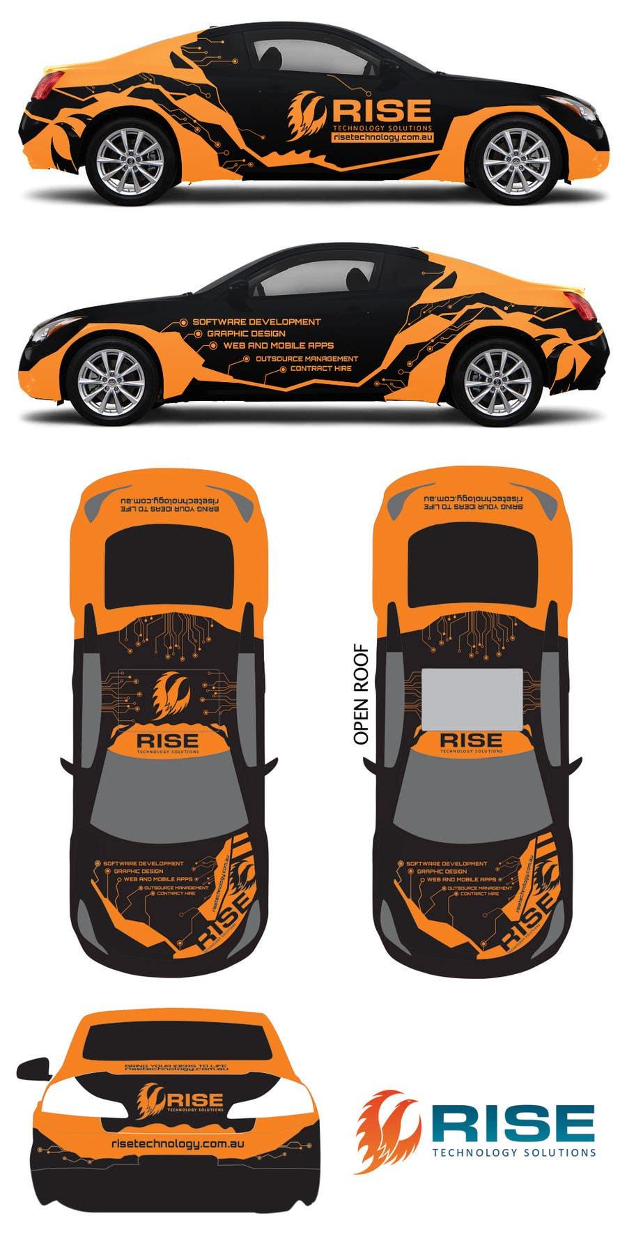 Penyertaan Peraduan #39 untuk Car Wrap Design for RISE Technology Solutions
