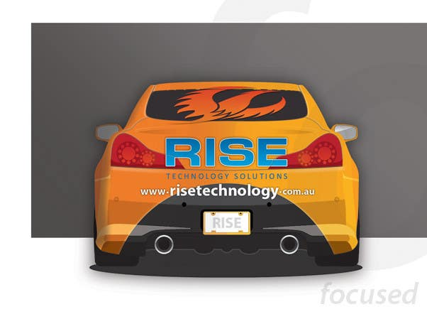 Bài tham dự cuộc thi #                                        26                                      cho                                         Car Wrap Design for RISE Technology Solutions