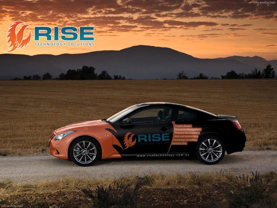 Konkurrenceindlæg #                                        50                                      for                                         Car Wrap Design for RISE Technology Solutions