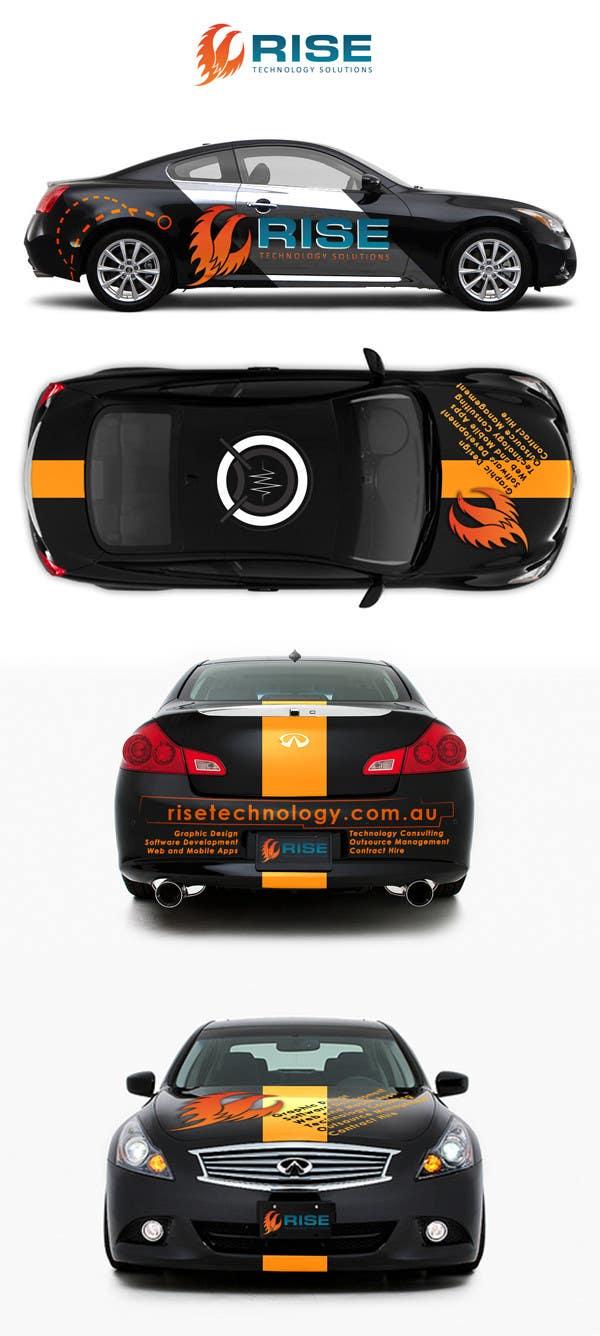 Konkurrenceindlæg #                                        13                                      for                                         Car Wrap Design for RISE Technology Solutions