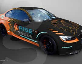 #44 untuk Car Wrap Design for RISE Technology Solutions oleh Glukowze