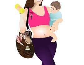 Nro 33 kilpailuun Design a Logo for Fitness Mom Lifestyle käyttäjältä rogdesigns