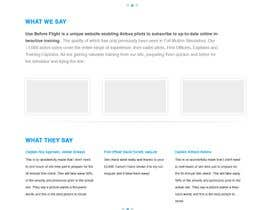 nº 26 pour Website Design for Use Before Flight par tanscreative