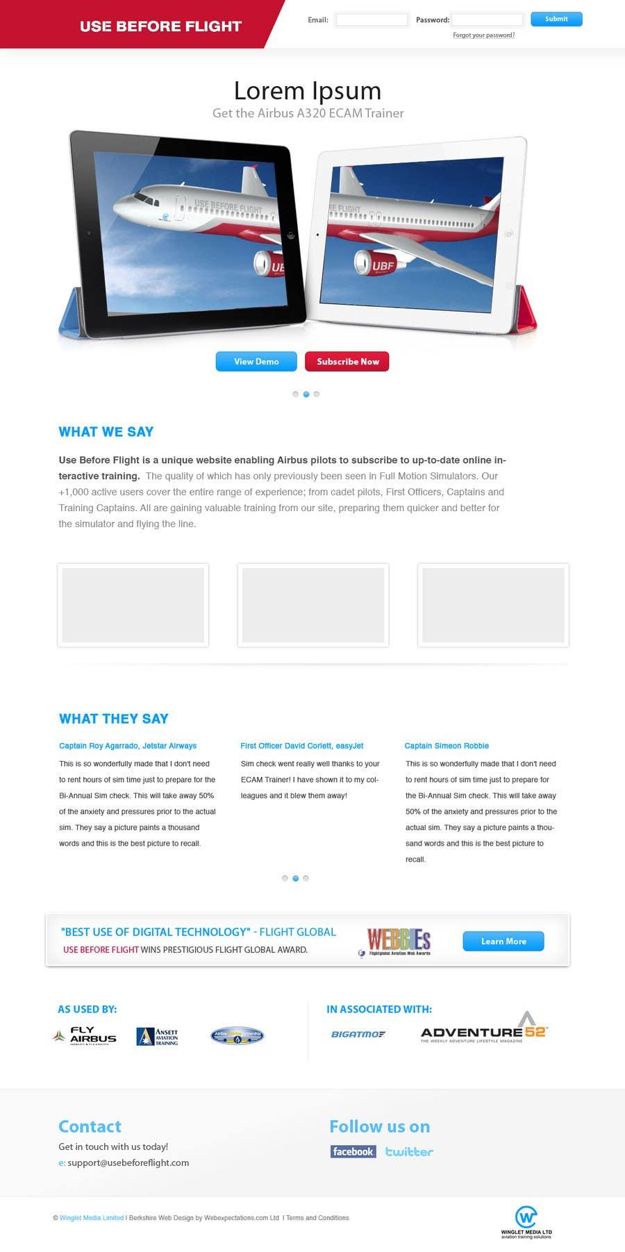 Penyertaan Peraduan #                                        6                                      untuk                                         Website Design for Use Before Flight