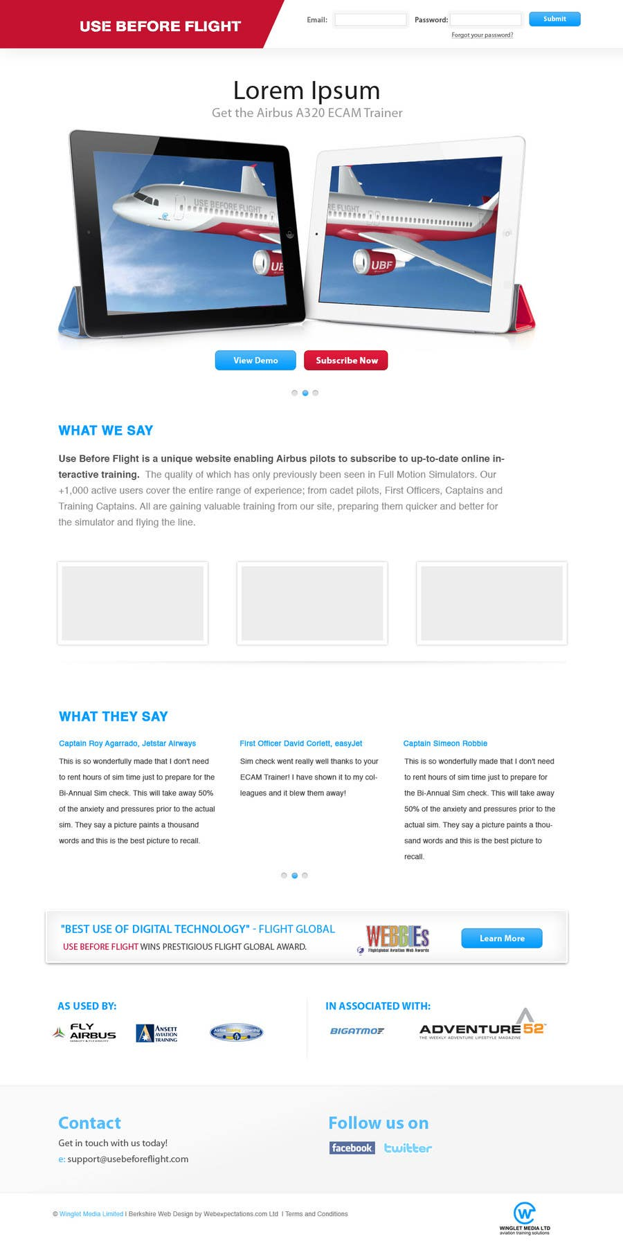 Bài tham dự cuộc thi #6 cho Website Design for Use Before Flight