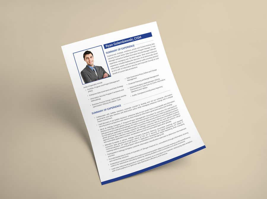 Contest Entry 8 For Design And Edit A Professional Document