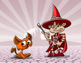 #44 for Draw a young wizard and his cat af pixell