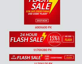 #5 untuk Design an email Banner + 2 matching website banners for a 24 hour flash sale oleh sumitjohir