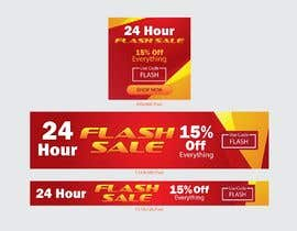 #8 untuk Design an email Banner + 2 matching website banners for a 24 hour flash sale oleh HimawanMaxDesign