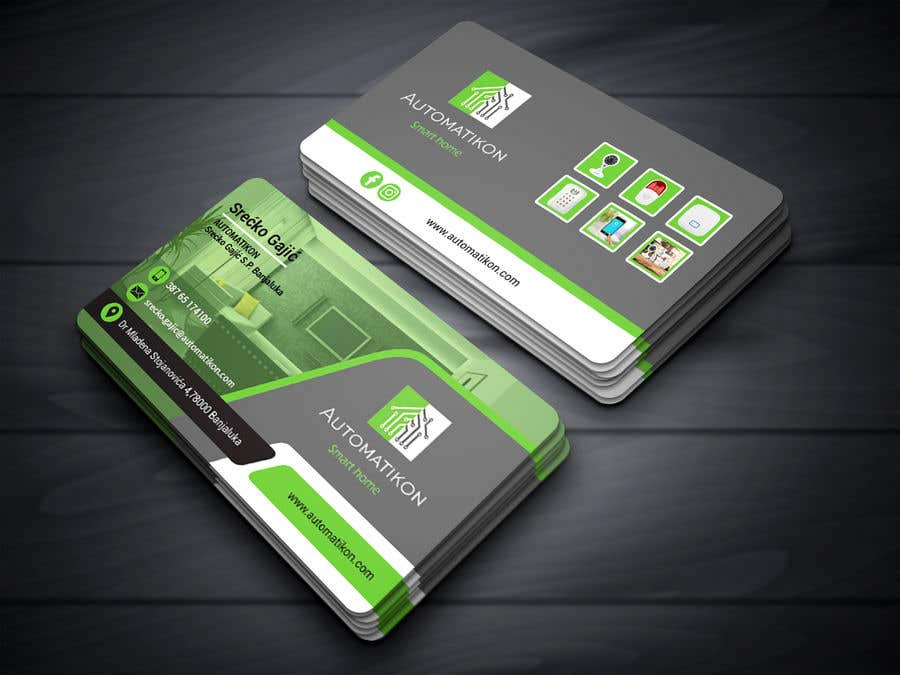 Entry #155 by neloy78 for Design Business Cards for Smart home ...