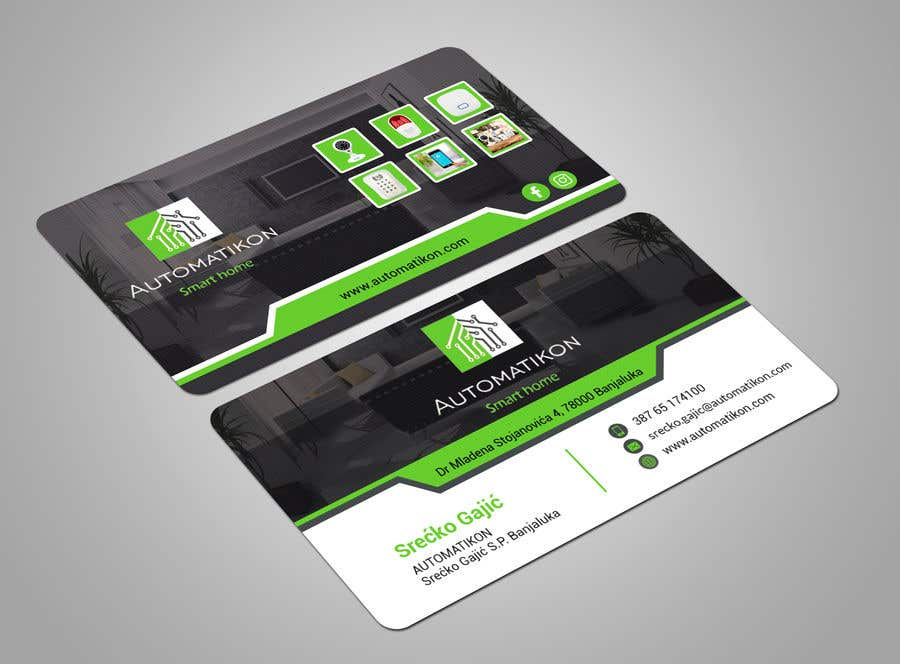 Entry #166 by neloy78 for Design Business Cards for Smart home ...