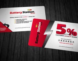 #81 for Business Card Design for Battery Station af Zveki