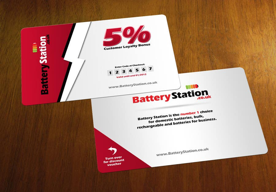 Entry #53 by Zveki for Business Card Design for Battery Station ...