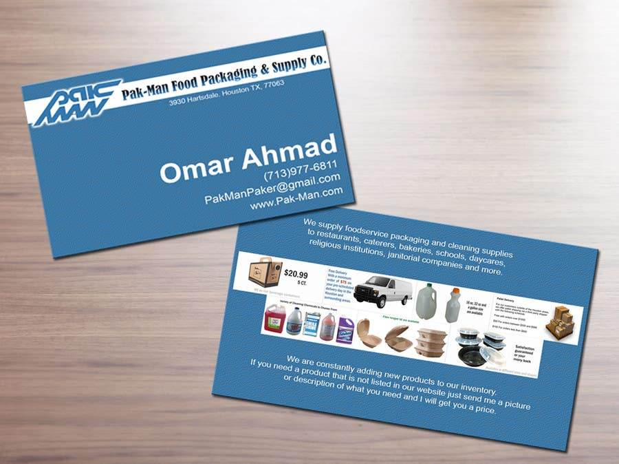 Entry #2 by erds518 for Pak-Man Sales Rep Card | Freelancer