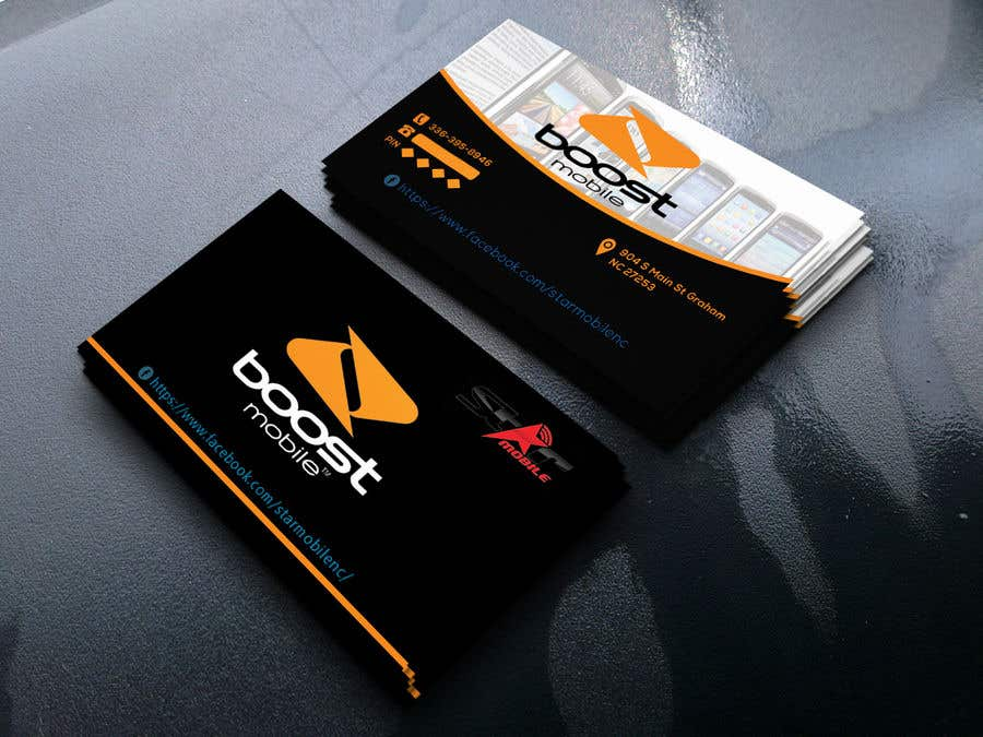 Entry 4 by risfatullah for boost mobile business card freelancer boost mobile business card colourmoves