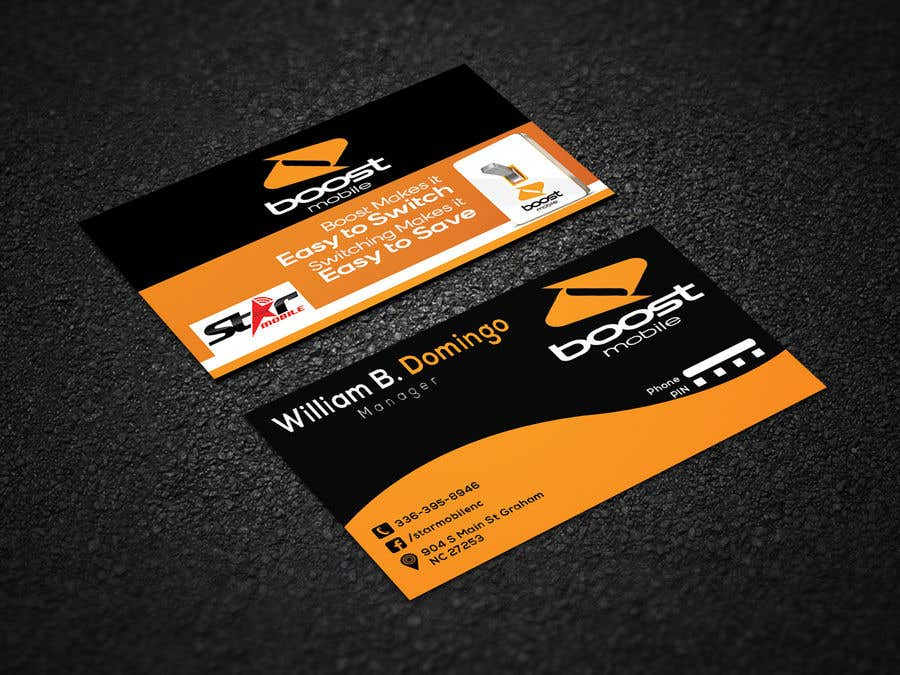 Entry #21 by risfatullah for Boost Mobile Business Card   Freelancer