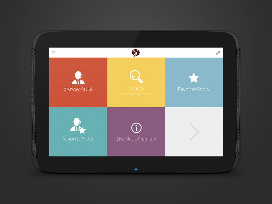 Entry #23 by agileviztech for Design for home screen of mobile app ...