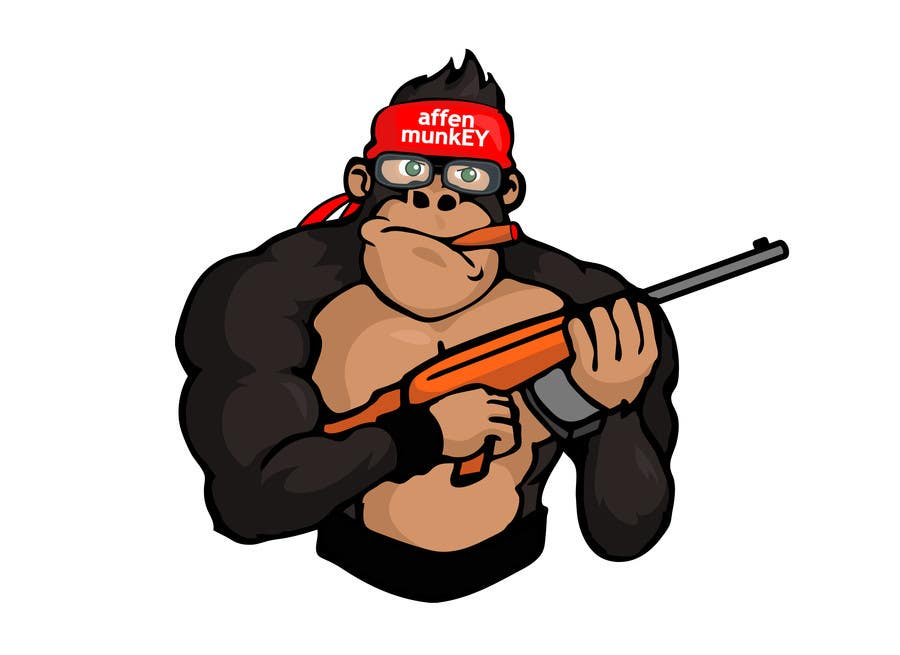 Proposition n°                                        18                                      du concours                                         Design a simple mascot / monkey / caricature
