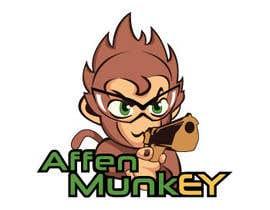 nº 33 pour Design a simple mascot / monkey / caricature par tanotano