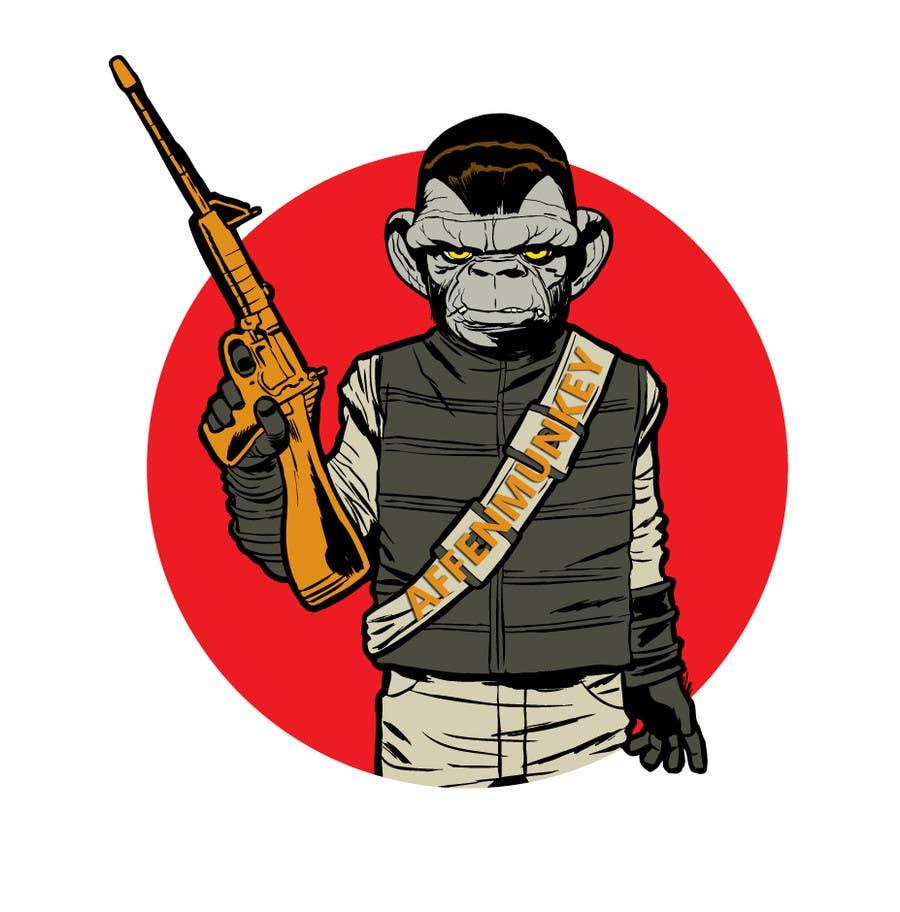 Proposition n°                                        9                                      du concours                                         Design a simple mascot / monkey / caricature