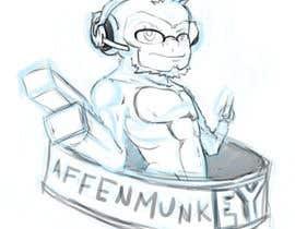 nº 28 pour Design a simple mascot / monkey / caricature par guilhermcosta