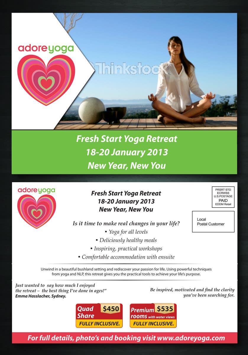 Inscrição nº 44 do Concurso para Marketing postcard for Adore Yoga