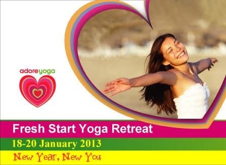 Inscrição nº 39 do Concurso para Marketing postcard for Adore Yoga