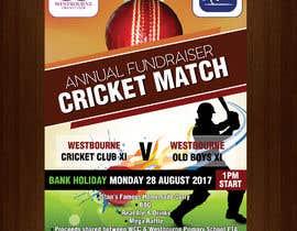 #30 pentru Fundraiser Poster Design for Print - Cricket! de către savitamane212
