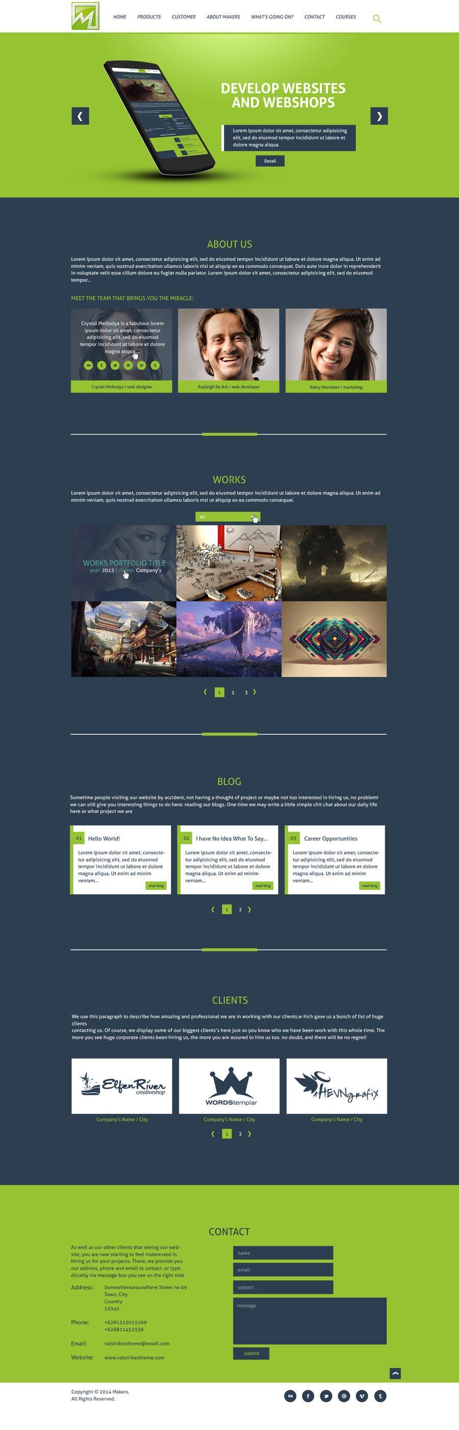 Konkurrenceindlæg #                                        14                                      for                                         Design a Website Mockup for http://makers.dk