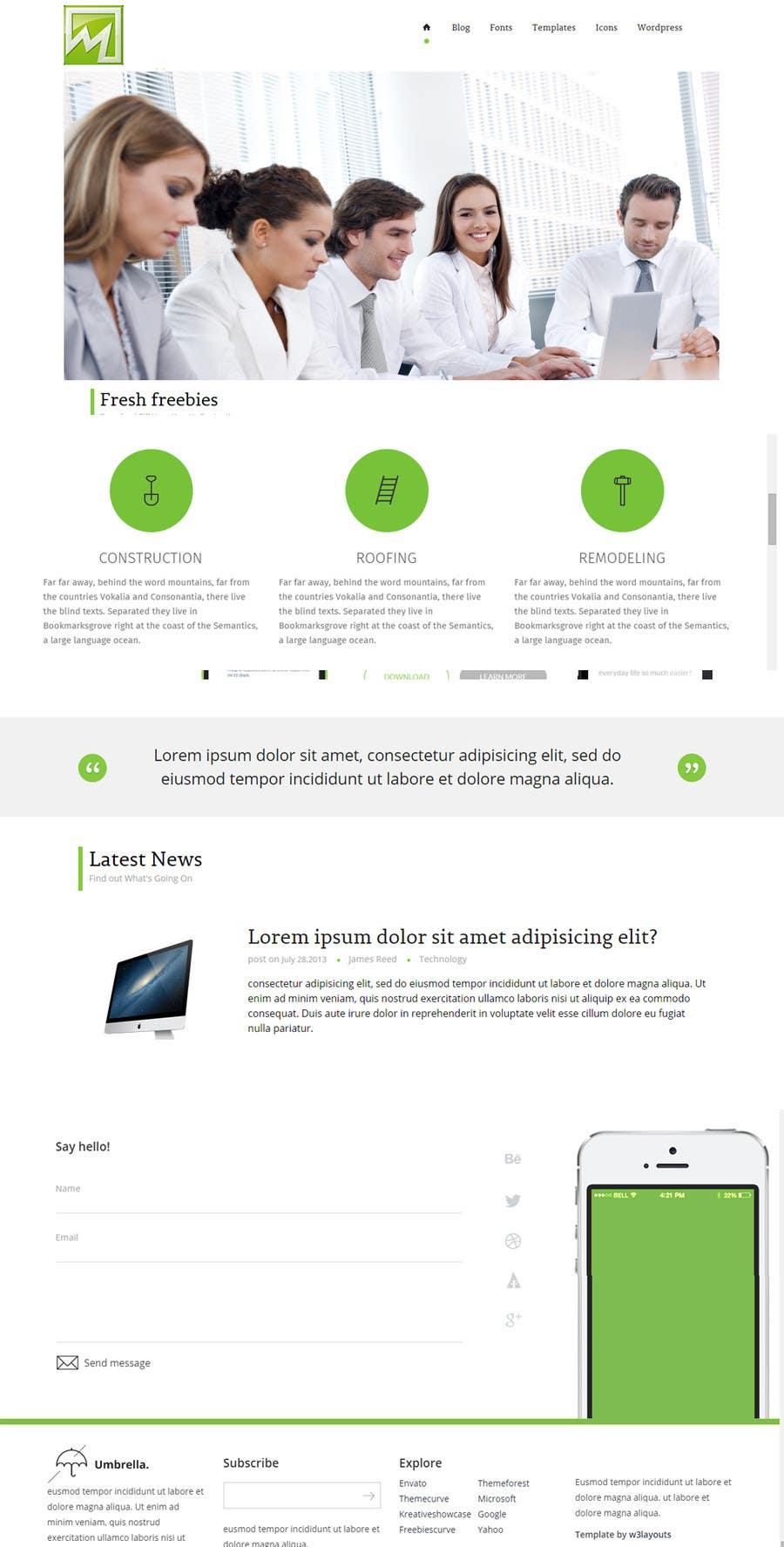 Konkurrenceindlæg #                                        21                                      for                                         Design a Website Mockup for http://makers.dk