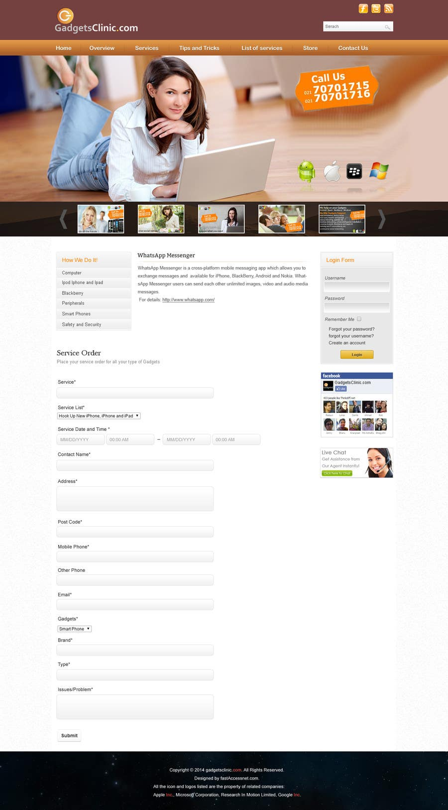 Penyertaan Peraduan #                                        6                                      untuk                                         redesign website www.GadgetsClinic.com