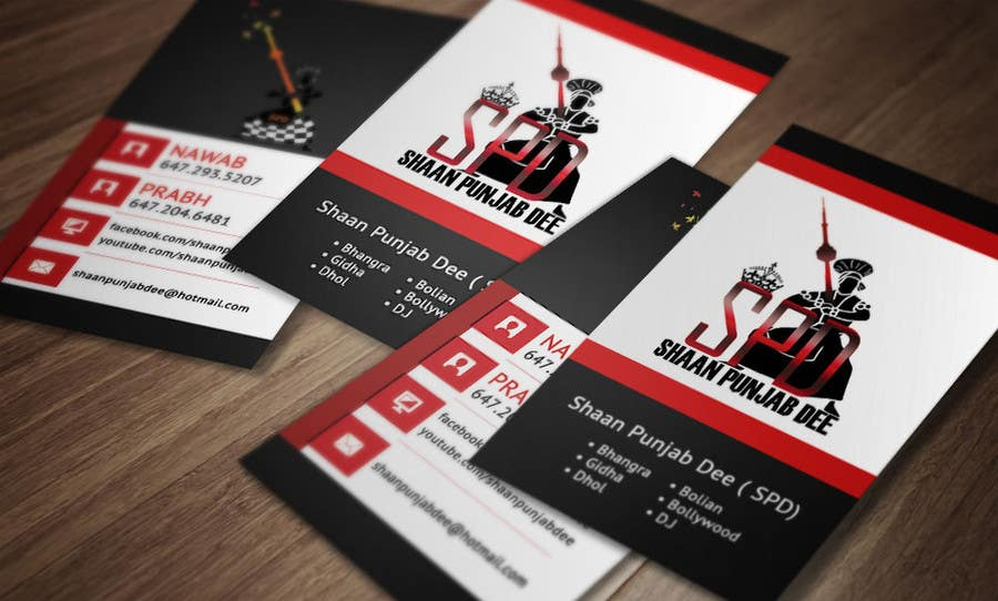 Entry #17 by makiskyrkos for Design some Business Cards for Dance ...
