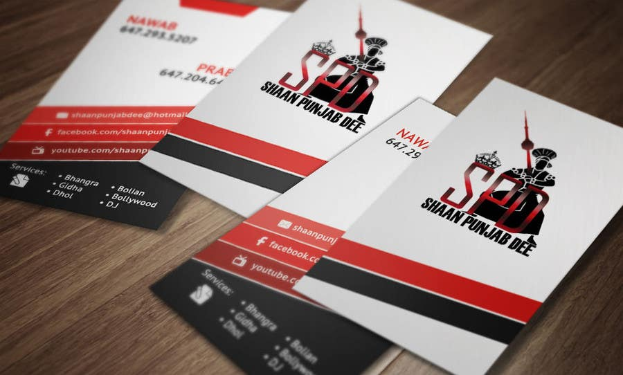 Entry #25 by makiskyrkos for Design some Business Cards for Dance ...