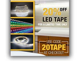 #18 for Design an LED Tape Banner for Email by DenisLucian