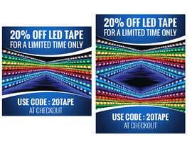 #45 for Design an LED Tape Banner for Email by vishaldz9ow