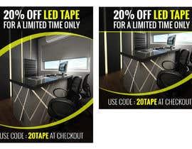 #62 for Design an LED Tape Banner for Email by vishaldz9ow