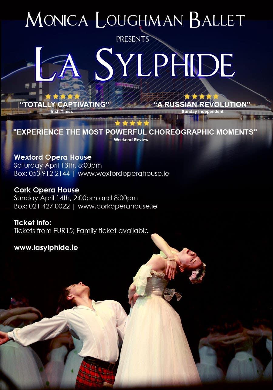 Конкурсная заявка №2 для Graphic Design for Ballet company for a ballet called La Sylphide