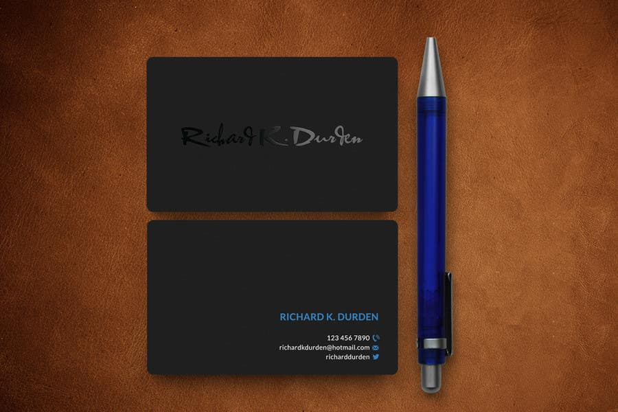 contest entry 21 for design personal business cards
