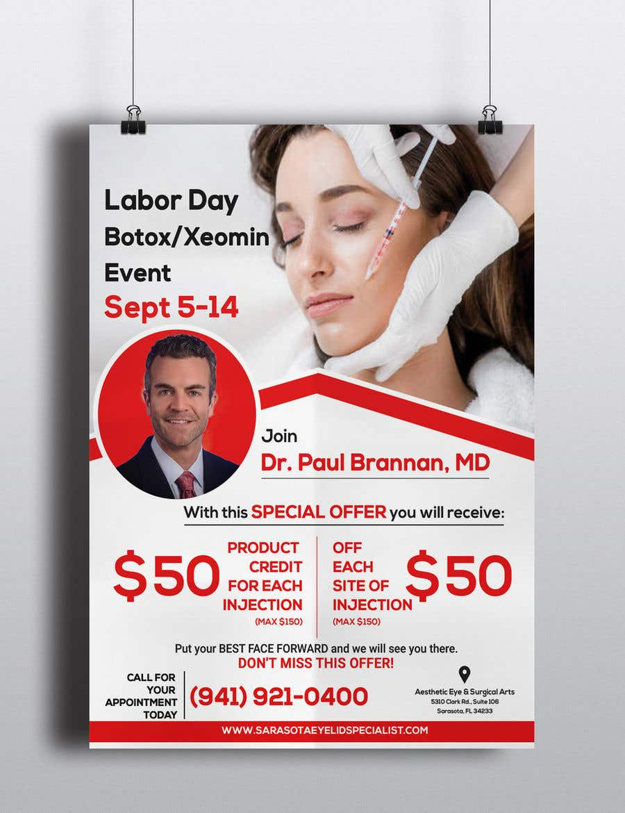 Entry #28 by jabir88 for Design a Flyer - Aesthetics Botox Flyer for ...