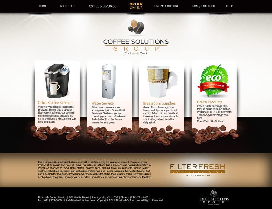 Конкурсная заявка №73 для Website Design for Coffee Solutions Group