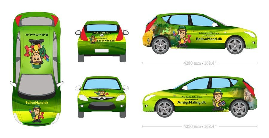 Contest Entry #                                        23                                      for                                         Cardesign for Ballonmand.dk and Ansigtsmaling.dk