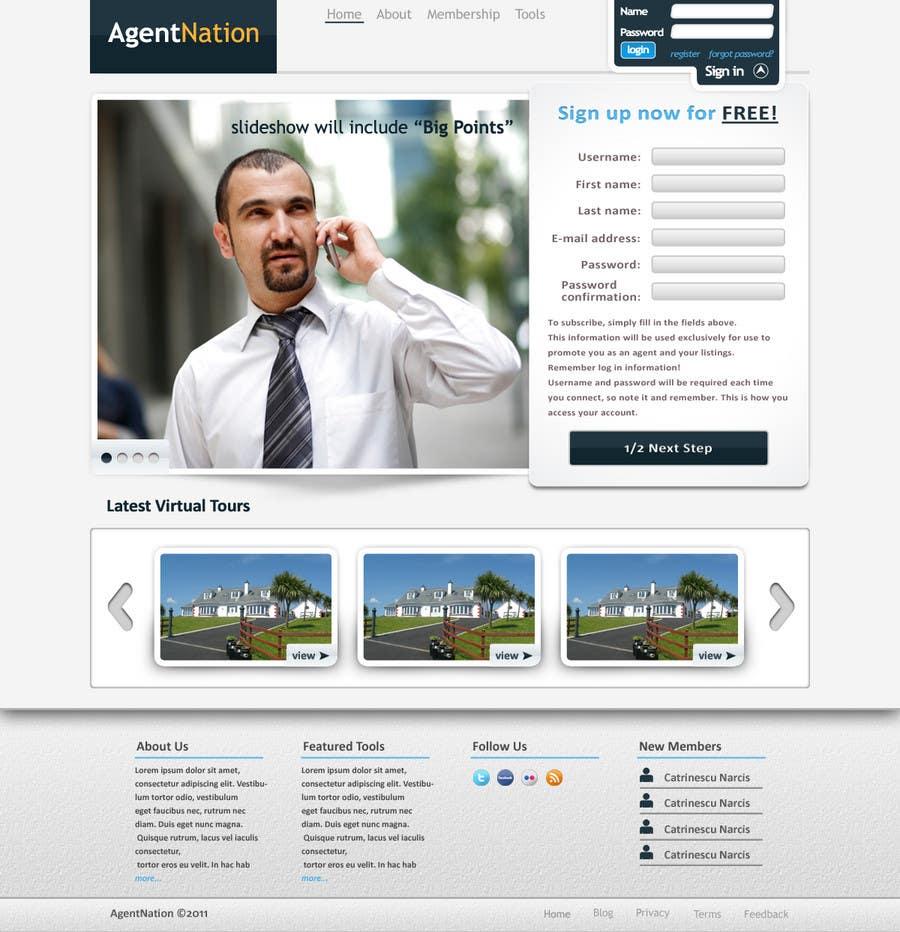 Contest Entry #                                        18                                      for                                         ReDesign for AgentNation.com - Interactive, social, marketing site for Real Estate Pros!