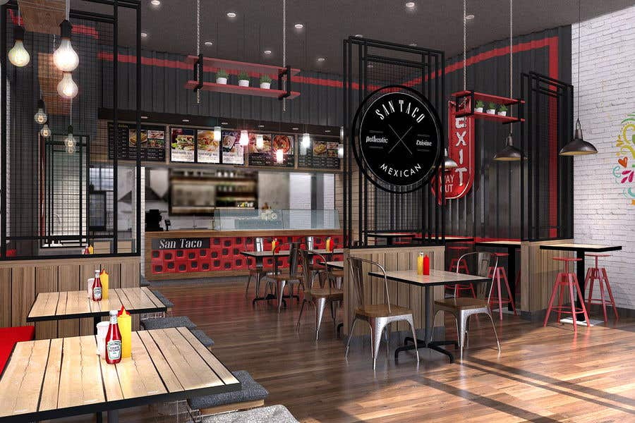 Top Entries 3d Mexican Fast Food Restaurant Design Contest Freelancer