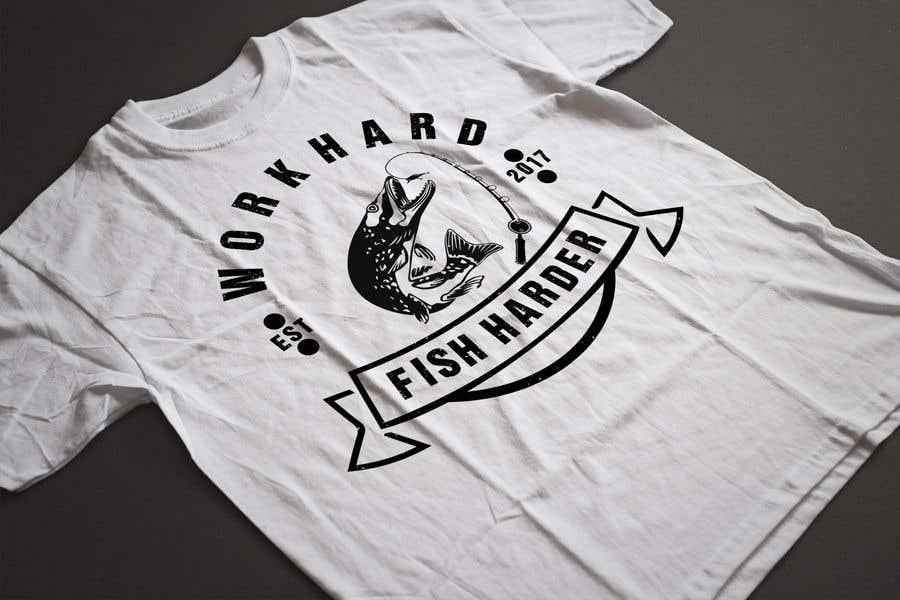 Kilpailutyö #27 kilpailussa Design a Fishing T-Shirt with a Vintage Style