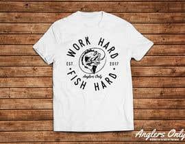 Nro 8 kilpailuun Design a Fishing T-Shirt with a Vintage Style käyttäjältä clickswar