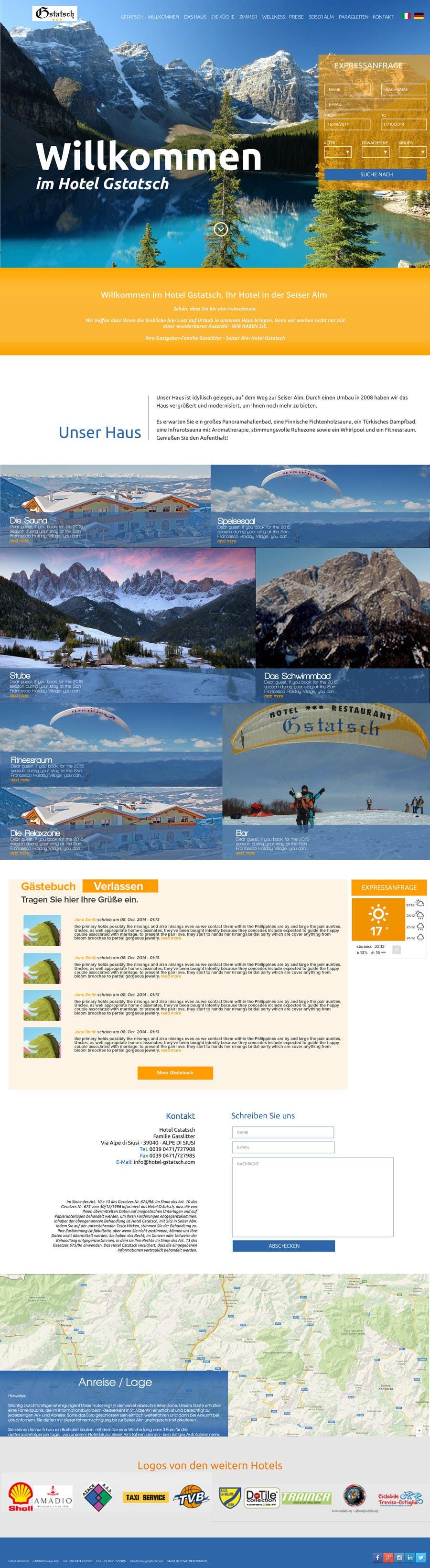 Wettbewerbs Eintrag #5 für Design eines Website Layouts für Hotel