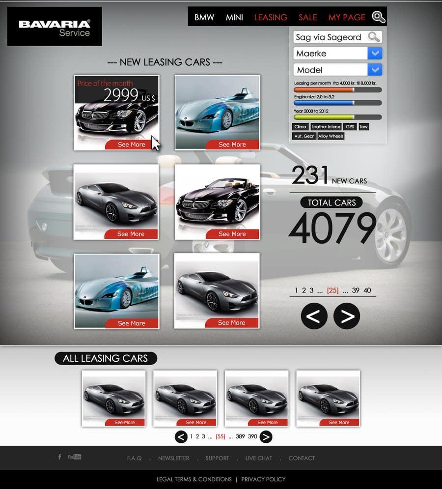 Bài tham dự cuộc thi #36 cho Website Design for Bavaria KBH (Car Leasing + Finansing website)