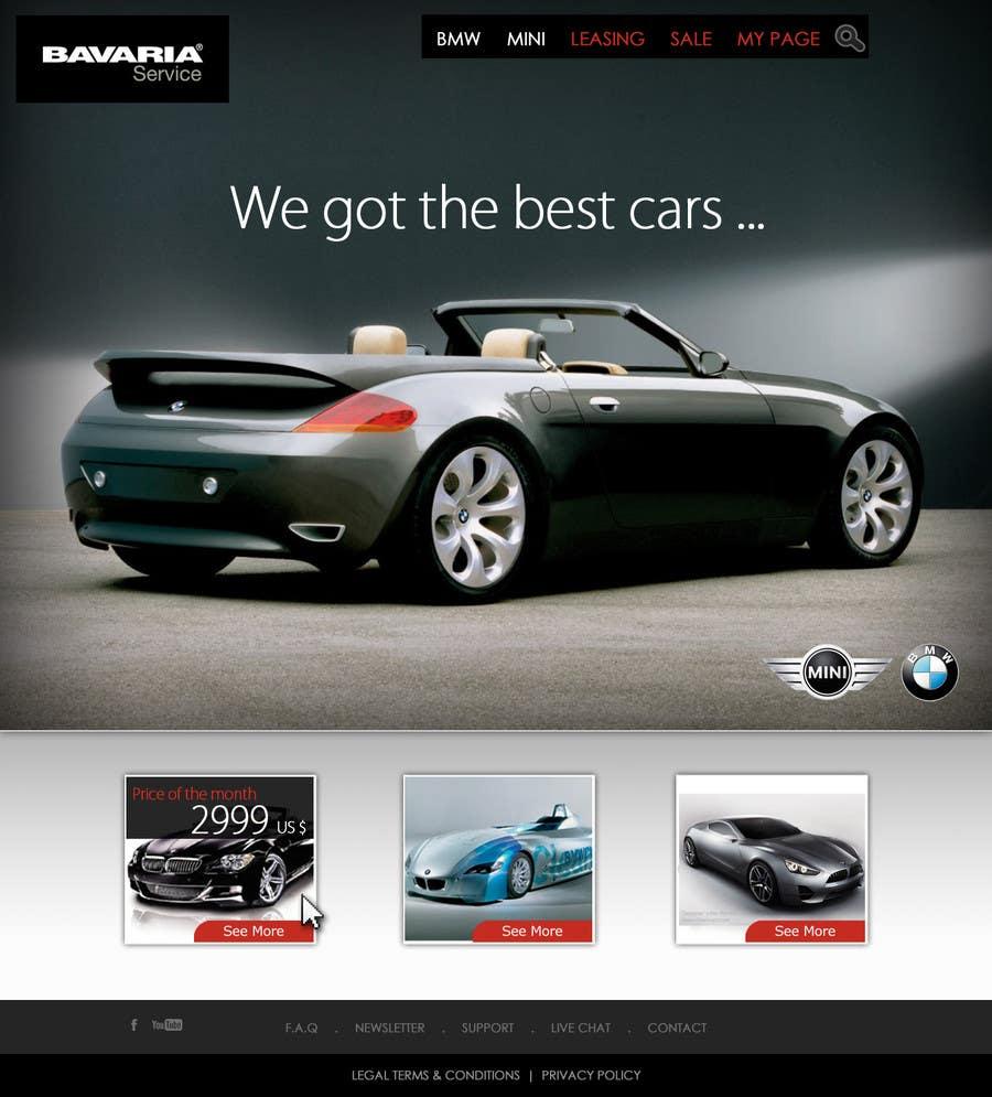 Bài tham dự cuộc thi #29 cho Website Design for Bavaria KBH (Car Leasing + Finansing website)