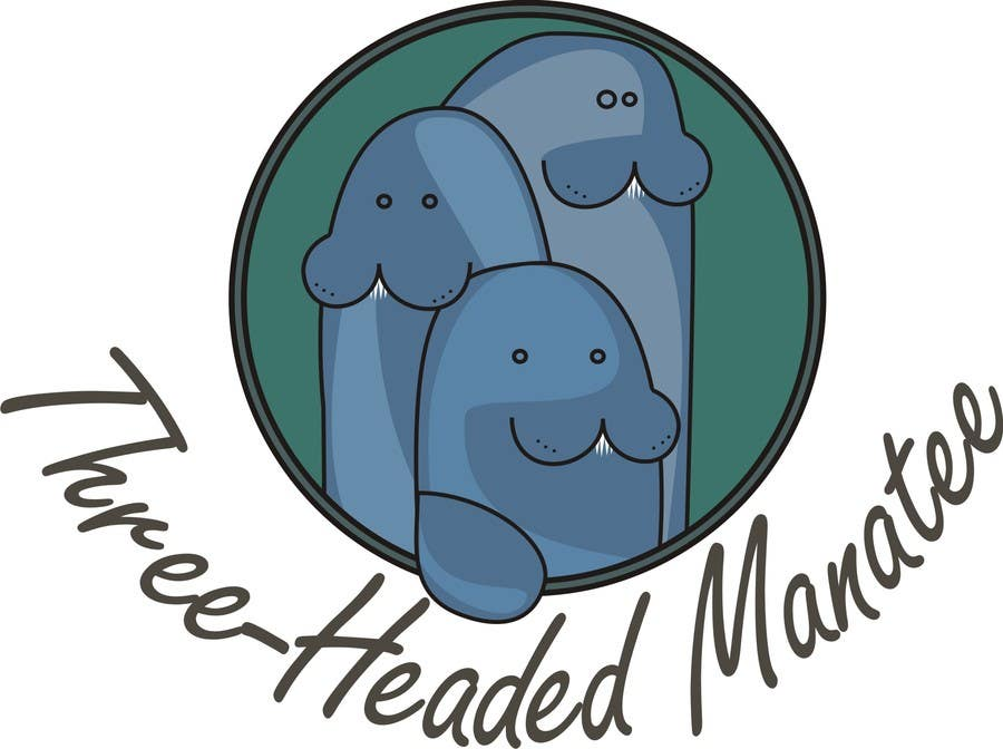 Inscrição nº                                         4                                      do Concurso para                                         Logo Design for Three-headed Manatee